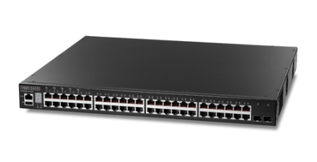 L2+ GbE Switch Stackable,48 10/100/1000Base-T ports , 2 10G SFP+ ports, ve 1-port 10G dual port expansion slot.