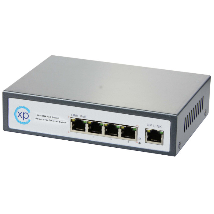 4 port 10/100 PoE + 1 port 10/100TX Uplink Yönetilemez Switch