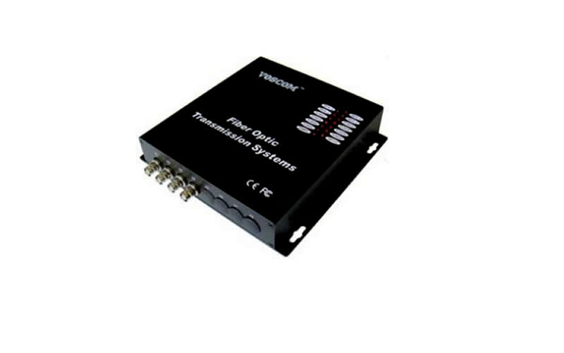 4 Kanal Video Fiber Transmitter & Receiver
