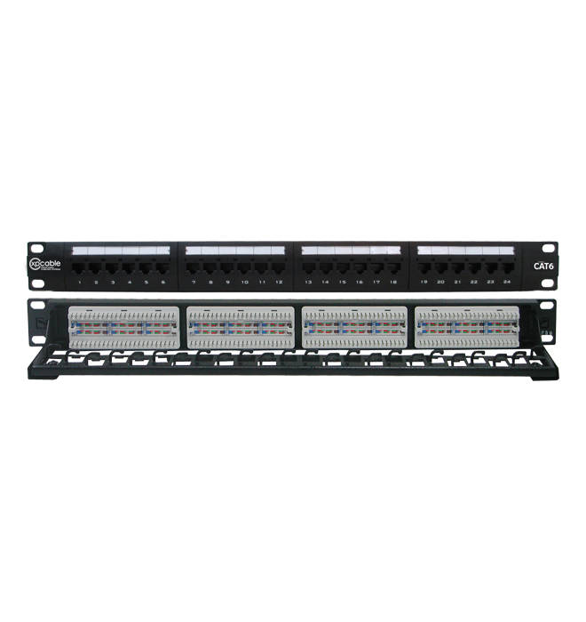 XPCABLE CAT6  24 Port UTP PATCH PANEL
