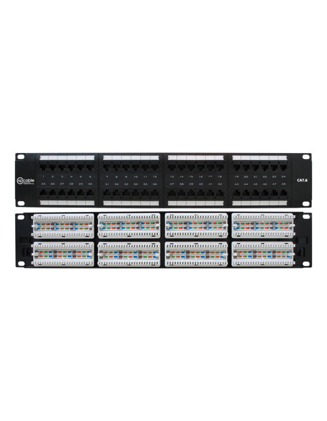 XPCABLE CAT6  48 Port UTP PATCH PANEL